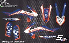 KTM SXF 350 SX-F 250 2017 Motocross Calcomanías Gráficos Kit de Pegatinas MX Diseño De Vinilo