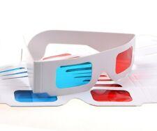 10 x Lunettes 3D rouge/bleu cyan papier carte 3D anaglyphe TV Film Movies Free Post