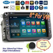"Android 8.0 DAB+Autoradio For VW Seat Skoda Leon Golf Polo Car DVD GPS 8"" 7815IT"