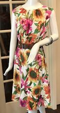 DRESS BARN WOMAN - 16W - Belted Floral Dress Sleeveless