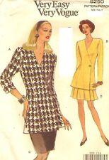 Miss Vogue Pattern 8250 Top Above Knee Shorts Skirt UNCUT Size 8-10-12 OOP 1992