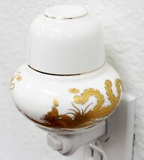 Dragon Phoenix Porcelain Night Light Lamp Candle Aromatherapy Oil Warmer Burner
