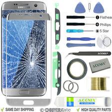 Samsung Galaxy S7 EDGE SILVER Pantalla de Recambio Lente Frontal