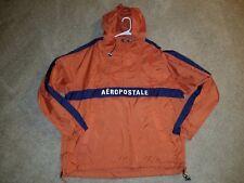 Men's large orange/burnt orange lightweight pullover jacket by Aeropostale
