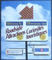 #BK408 CANADA Roadside Attractions #1 MNH 2 Panes of 4 Stamps #2336