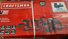 Craftsman 20V Lith-Ion 8-Tool Combo Kit CMCK800D2 BRAND NEW