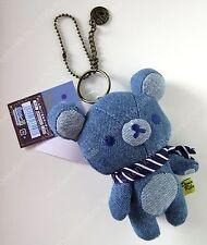 Japan san-x relax bear rilakkuma denim pendant stuffed key chain