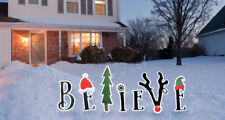 Believe Yard Sign Decoration Holiday Christmas Outdoor XMAS Lawn Outside