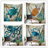 Naturail ocean animal Turtle and octopus Wall Hanging Tapestry Bedspread Dorm