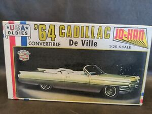 1964 64 CADILLAC DEVILLE Jo-Han Oldies  Kit 1/25 Scale Plastic Model Car c-3964
