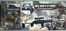 Heavy Fire Afghanistan Pack jeu Vidéo Nintendo Wii + Fusil D'assaut