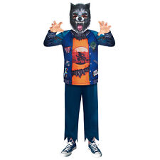 Kids Werewolf Costume Boy Wolf Halloween Howling Fancy Dress Sustainable Outfit