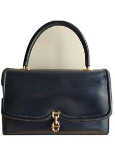 Rare Hermès Vintage Navy Blue Tote Leather Bag 💥