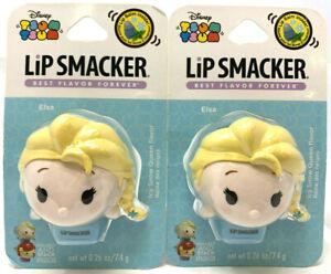 (2) Lip Smacker Disney Tsum Tsum Lip Balms New & Sealed ELSA Icy Snow Queen