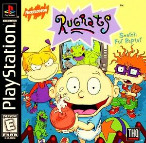 Rugrats Search For Reptar PS1 Great Condition Fast Shipping