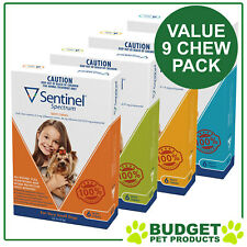 Sentinel Spectrum for Dogs 9 Chew VALUE Pack - ALL SIZES