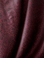 Seide blumenornament dunkelrot / schwarz 110 cm breit Meterware