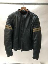 Spada Wyatt Leather Motorcycle Motorbike Jacket - BlUE size 42 44 LARGE