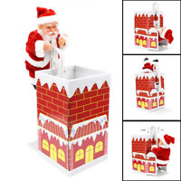 Electric Climbing Chimney Ladder Santa Home Decor Special Chimney Toy With Music
