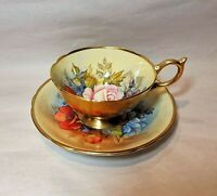 Spectacular Rare Aynsley Bailey Signed Tea Cup And Saucer
