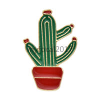 Enamel Cactus Brooch Pins Women Shirt Collar Lapel Breastpin Fashion Jewellery