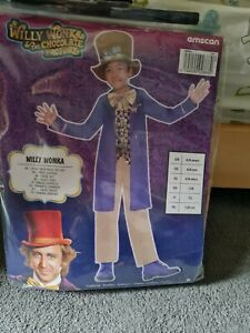 Childs Willy Wonka Fancy Dress Costume age 6-8 years