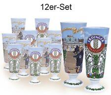 12 Stück Erdinger Bierkrug, Weißbierbecher Keramik Schloss Sanssouci 0,5 Ltr.