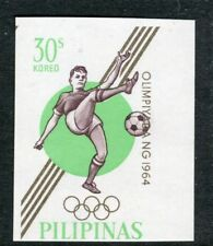 PHILIPPINES;  1964 early Olympics Imperf issue Mint MNH Unmounted 30c.