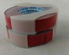 Vintage 38 Labeling Label Tape Red Primark Rotex New 2 Roll Lot Superflex
