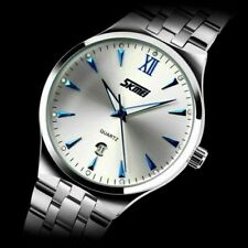 SKMEI Men's Stainless Steel Luminous Analog Date Quartz Business Formal Watch