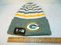 GREEN BAY PACKERS Knit Hat NFL New Era Winter striped cuffed Beanie Knit Cap NWT
