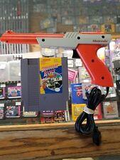 Original Nintendo NES Orange Zapper Light Gun NES-005 W/ SHOOTING RANGE