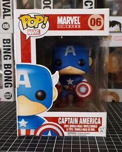 Funko Pop Vinyl/ Marvel Universe - Captain America NIB Bobble-head