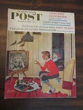Saturday Evening Post January 4, 1958 Glenn Ford, Leo Durocher, Pablo Picasso
