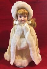 "The Heritage Mint Collection Ltd. Porcelain 15"" Doll in Winter Dress"