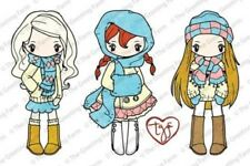 MISS ANYA SCARVES-The Greeting Farm Cling Rubber Stamp-Stamping Craft-RETIRED