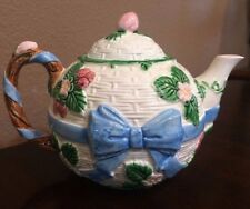 "the haldon Vintage 1985 ""Ribbon & Bow"" Covered Teapot"