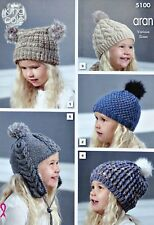 Aran Boys Hats Scarfs Mittens Crocheting Knitting Patterns For