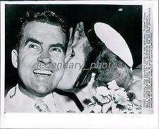 1955 Richard Nixon Proud of Her Man Original New Service Photo