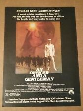 1982 An Officer And A Gentleman Movie Ad Richard Gere