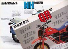 Two 1984 HONDA NH80 LEAD SCOOTER & QR50 MINI BIKE 2p Australian & Int. Brochures