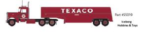N Scale Fuel Truck - Peterbuilt 350 - Texaco