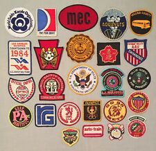 Vintage Lot of 25 Souvenir PATCHES KARATE AUTO TRAIN OLYMPICS CRUISE LINES +++