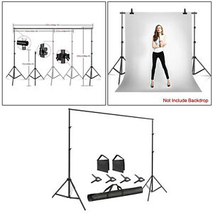 Photography Backdrop Stand Adjustable Photo Background Holder Stand