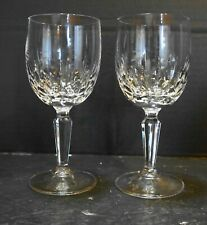 Mikasa Sonnet Cut Crystal Wine Glasses Pair