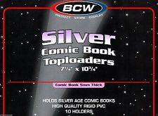 10 BCW NEW  SILVER Comic Book Hard Top loader Holders - ten Rigid Toploaders