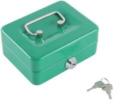 Mini Small Cash Box With Money Tray Green Lock Box With Key Safe For Kids