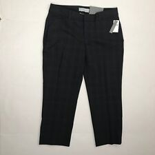 Gap Womens Black Blue Plaid Slim Cropped Pant Size 0 NWT