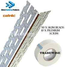 Thin Coat Angle Bead 2.4m Box 50 + 10 Rolls Premium Scrim Tape