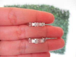 .029 CTW Diamond Wedding Ring 18k White Gold WR204 sep